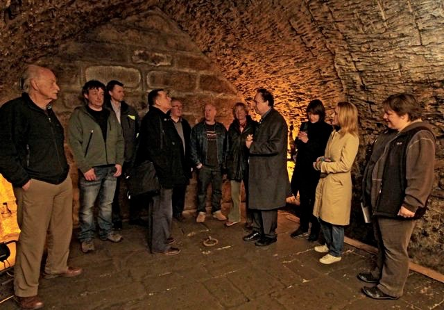 The Trial of the Pendle Witches: Writer Graham Kemp with cast and crew visit the dungeon in Lancaster Castle where the accused were held in 1612
