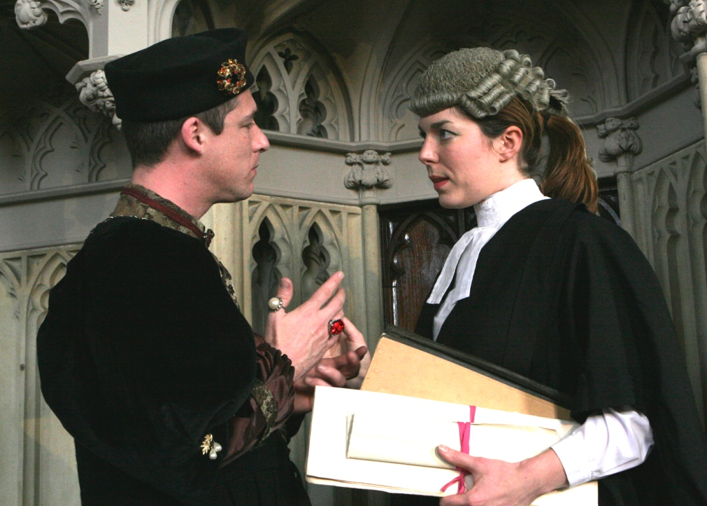 Simon Lacy (Richard III) & Fiona Paul (Defence Counsel)